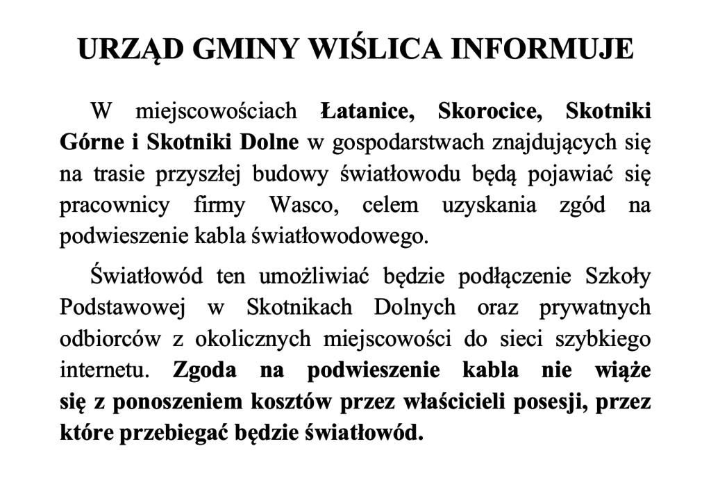 URZĄD GMINY WIŚLICA INFORMUJE 2.png