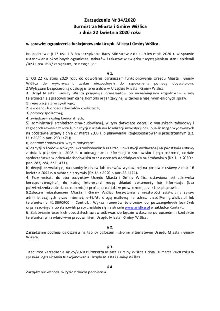 Zarządzenie Nr 34_ograniczenie pracy urzedu.png