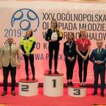 Zajęcie podium przez zawodniczki UKS Miłek podczas Ogólnopolskiej Olimpiady Młodzieży 2019 r. (Dominika, Gabrysia i Patrycja).