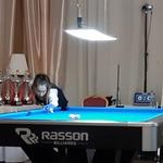 Dominika przy stole podczas Mistrzostw Polski Seniorek i Seniorów Kielce grudzień 2019 r.