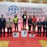 Dekoracja podczas Ogólnopolskiej Olimpiady w sportach halowych 2019 r.